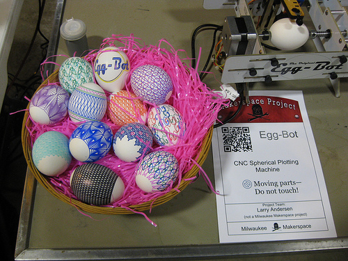 Larry's Egg Bot creations