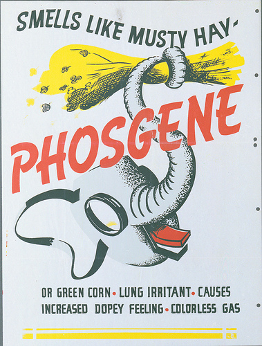 Texas Military Forces Museum phosgene poster