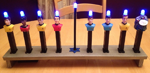 Star Trek Menorah