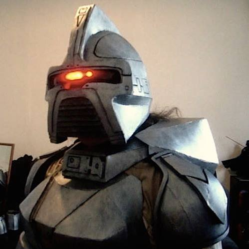 Cylon costume with Larson Scanner eye