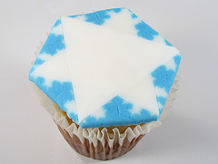 koch snowflake cupcake